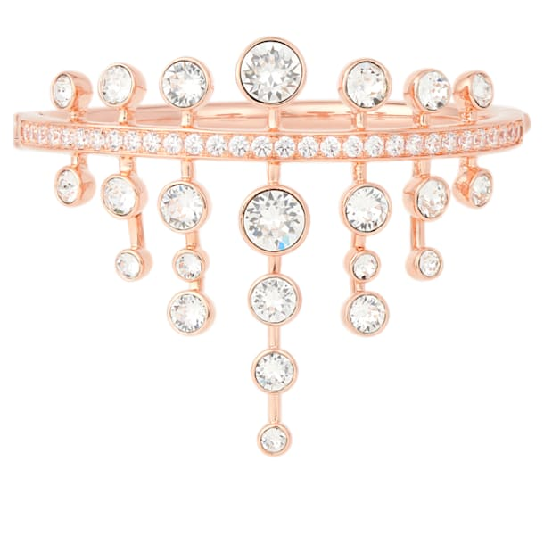 Theater Bangle, White, Rose-gold tone plated - Swarovski, 5569076