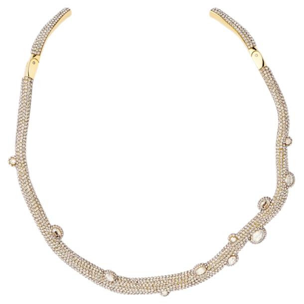 Collana torque Tigris, Goccioline d'acqua, Bianco, Placcato color oro - Swarovski, 5569140