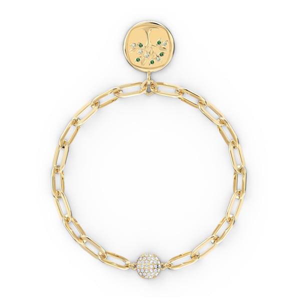 The Elements Tree Bracelet, Green, Gold-tone plated - Swarovski, 5569178
