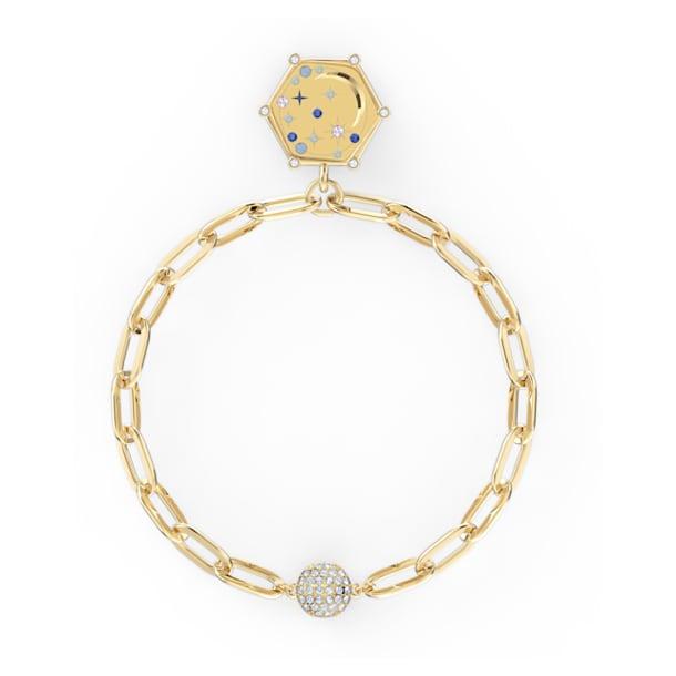 Bracelet The Elements Moon, bleu, métal doré - Swarovski, 5569182