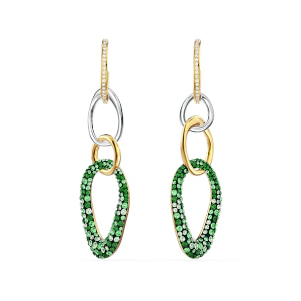 Boucles d'oreilles The Elements, vert, finition mix de métal - Swarovski, 5569183