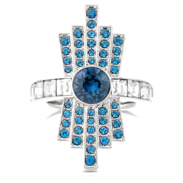 Karl Lagerfeld 칵테일 링, 블루, 팔라듐 플래팅 - Swarovski, 5569536