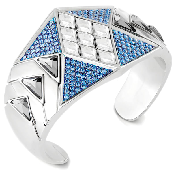 Karl Lagerfeld Statement Cuff, Blue, Palladium plated - Swarovski, 5569554