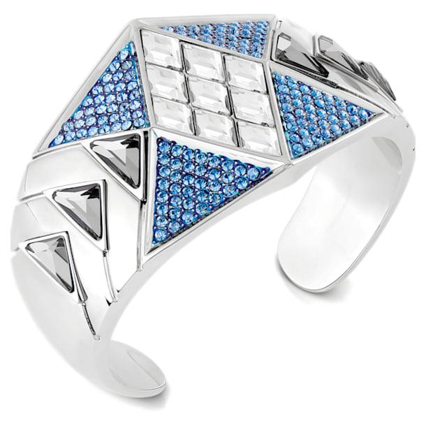 Karl Lagerfeld Statement Cuff, Blue, Palladium plated - Swarovski, 5569554