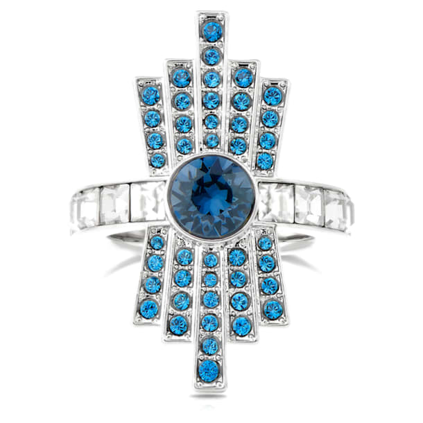 Karl Lagerfeld 鸡尾酒戒指, 蓝色, 镀钯 - Swarovski, 5569562