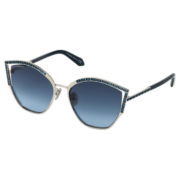 Fluid Sunglasses, SK0274-P-H 16C, Blue - Swarovski, 5569896