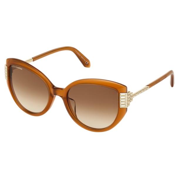 Fluid Cat Eye Sunglasses, SK0272-P, Brown - Swarovski, 5569897