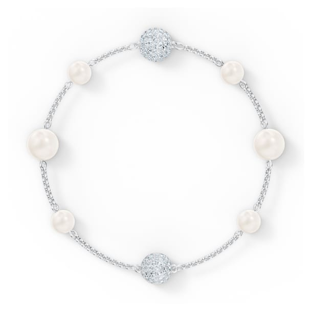 Strand Swarovski Remix Collection Pearl, blanc, métal rhodié - Swarovski, 5570816