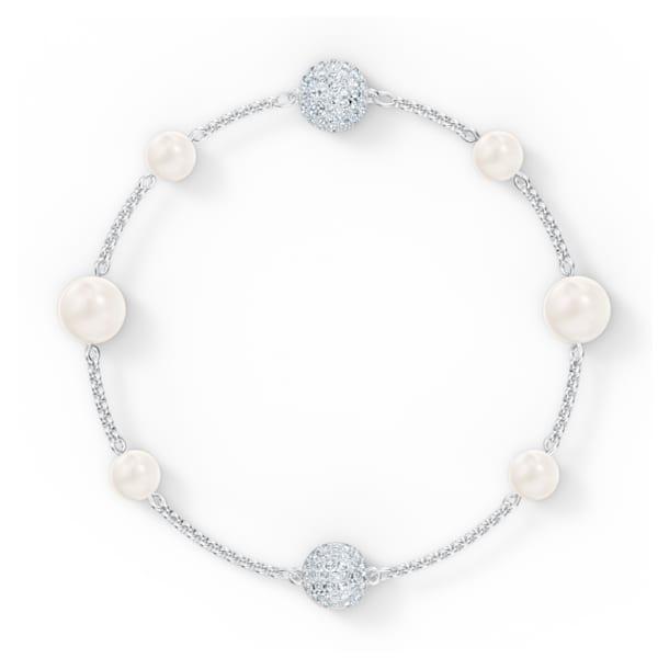 Swarovski Remix Collection Pearl Strand, White, Rhodium plated - Swarovski, 5570816