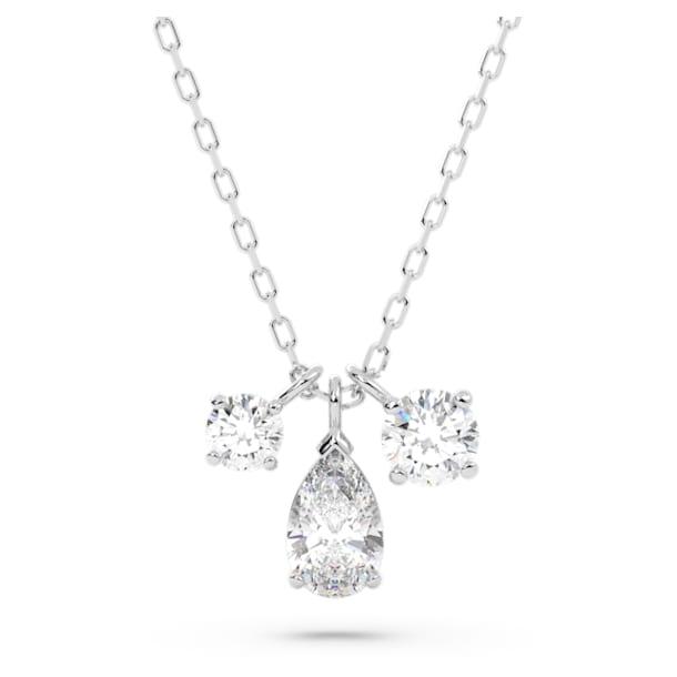 Attract pendant, White, Rhodium plated - Swarovski, 5571077