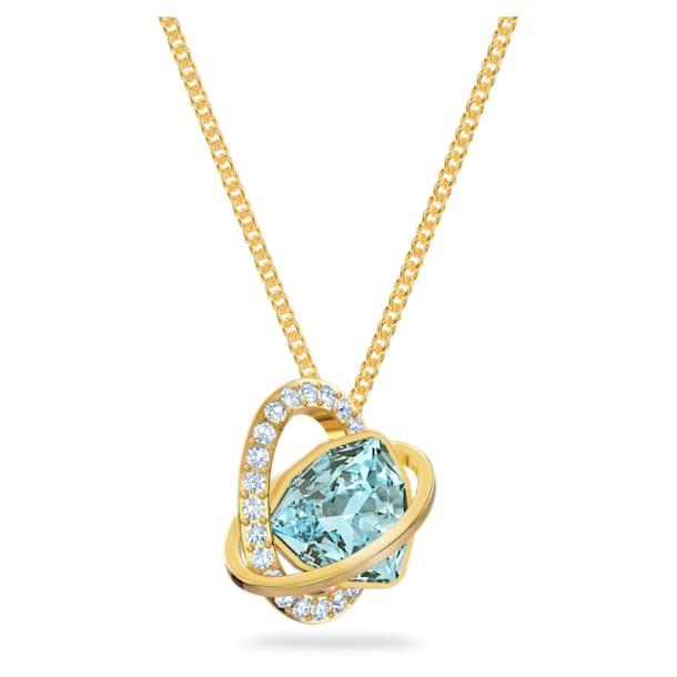 Outstanding Pendant, Aqua, Gold-tone plated - Swarovski, 5572167