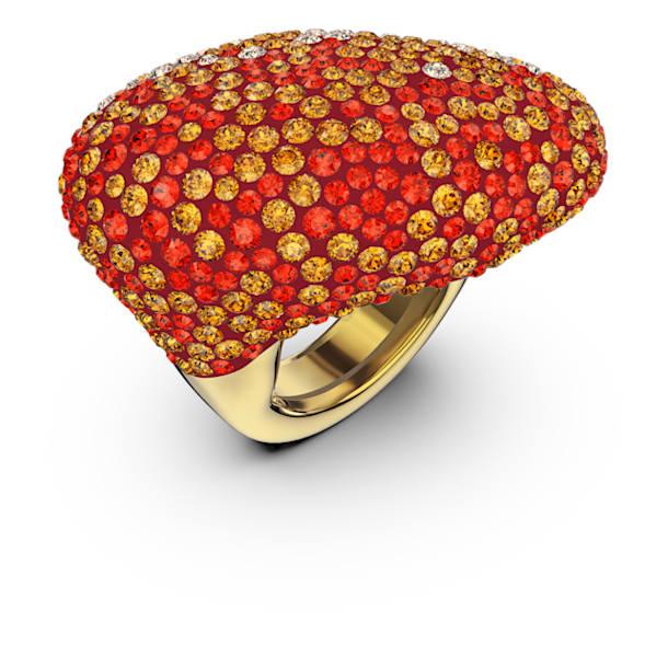 Δαχτυλίδι The Elements, πορτοκαλί, επιχρυσωμένο - Swarovski, 5572450