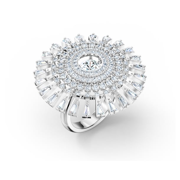 Swarovski Sparkling Dance Dial Up Ring, weiss, rhodiniert - Swarovski, 5572513