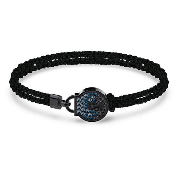 Togetherness bracelet, Lock, Black, Black PVD - Swarovski, 5572527