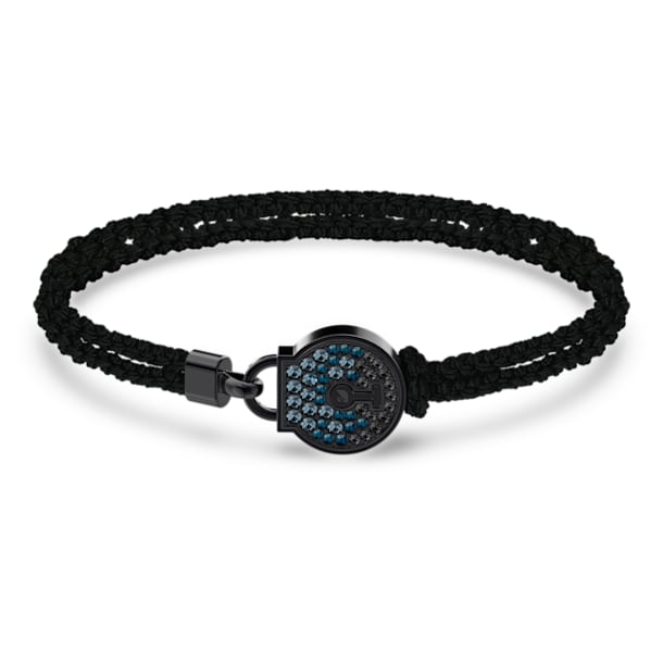 Togetherness Lock Bracelet, Black, Black PVD - Swarovski, 5572527