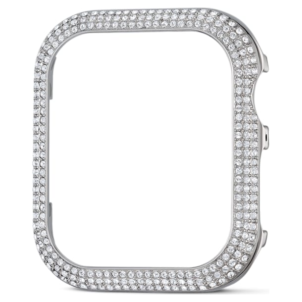 Sparkling case compatible with Apple Watch®, 40 mm, Silver tone - Swarovski, 5572573