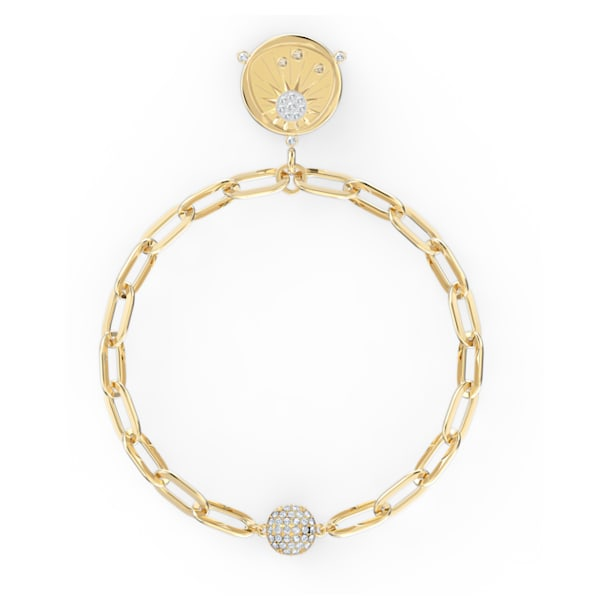 The Elements Sun Bracelet, White, Gold-tone plated - Swarovski, 5572641