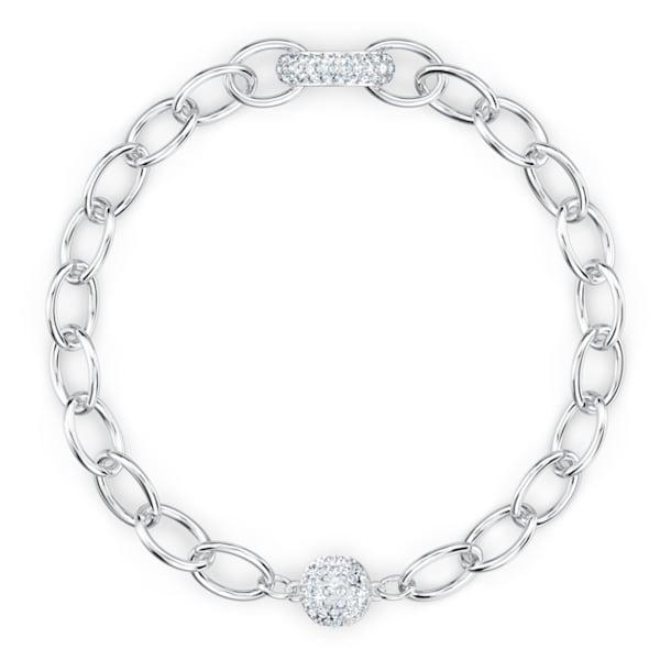 The Elements lánc karkötő, fehér, ródium bevonattal - Swarovski, 5572642