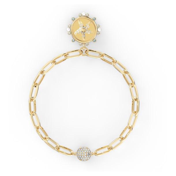 Pulsera The Elements, Elemento agua, estrella de mar, Azul, Baño tono oro - Swarovski, 5572643