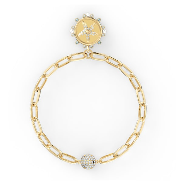 The Elements Star Bracelet, White, Gold-tone plated - Swarovski, 5572644