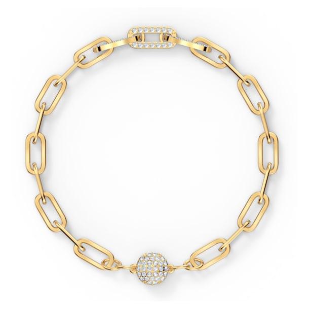 Braccialetto The Elements Chain, bianco, placcato color oro - Swarovski, 5572652
