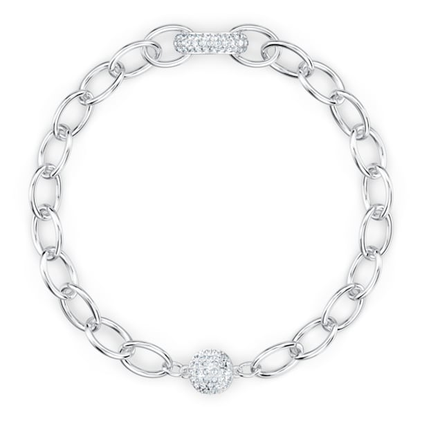The Elements Chain Armband, weiss, rhodiniert - Swarovski, 5572655