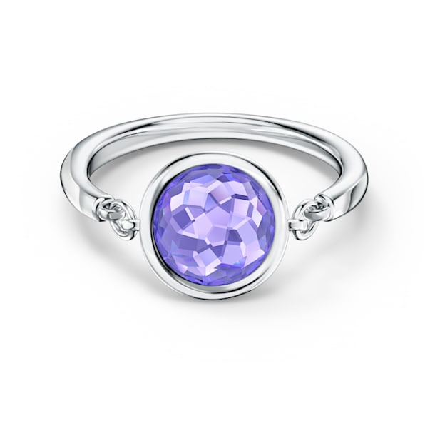 Tahlia 戒指, 球形切割, 紫色, 鍍白金色 - Swarovski, 5572701