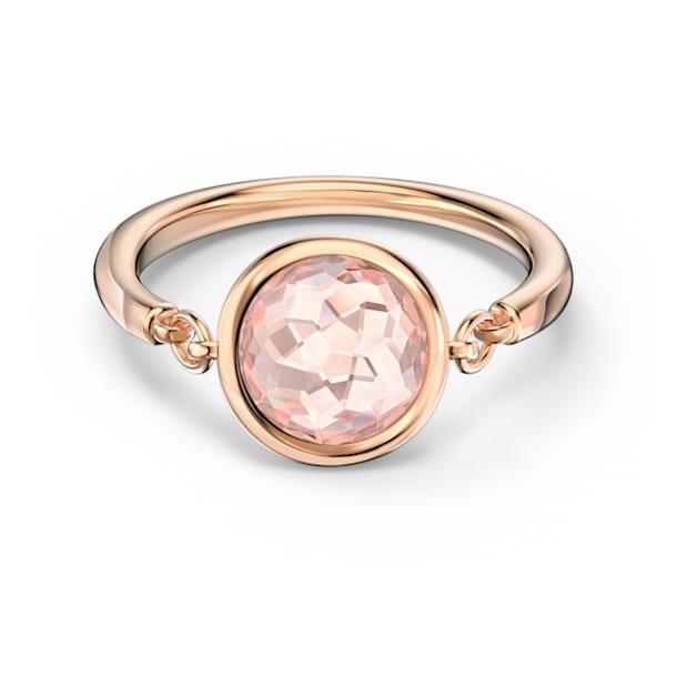 Tahlia ring, Round, Pink, Rose-gold tone plated - Swarovski, 5572705