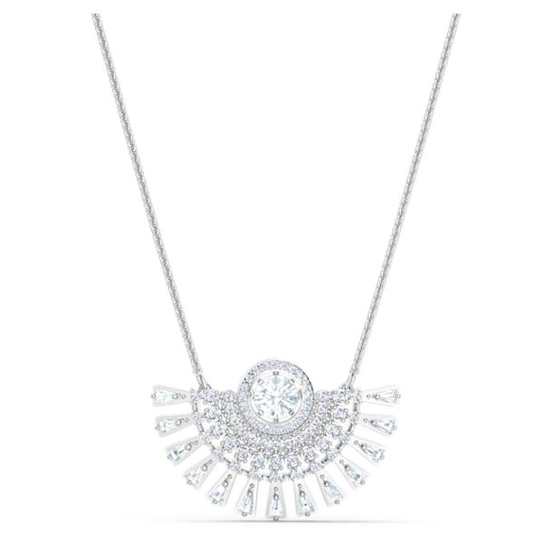 Swarovski Sparkling Dance Dial Up Necklace, Short, White, Rhodium plated - Swarovski, 5573694
