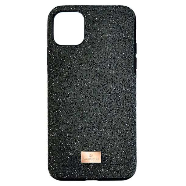 High smartphone case, iPhone® 12 mini, Black - Swarovski, 5574040