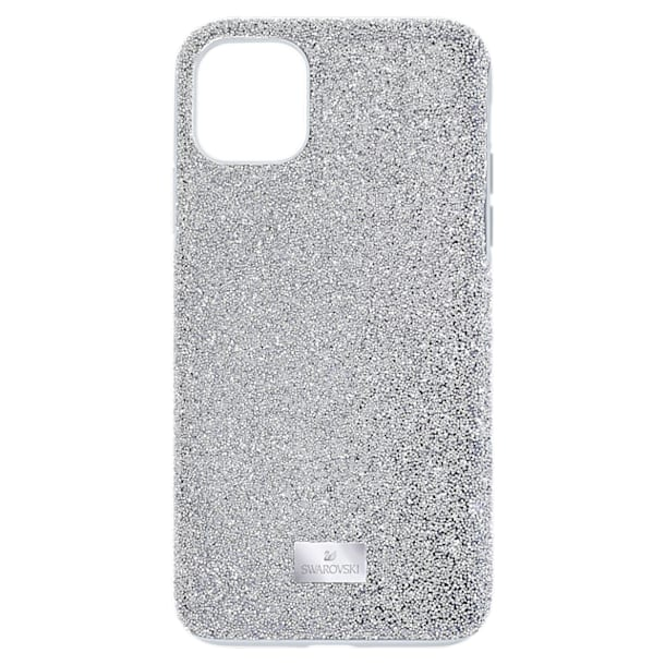 High Smartphone case, iPhone® 12 mini, Silver tone - Swarovski, 5574042