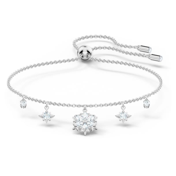 Bracelet Magic, Flocon de neige, Blanc, Métal rhodié - Swarovski, 5576695