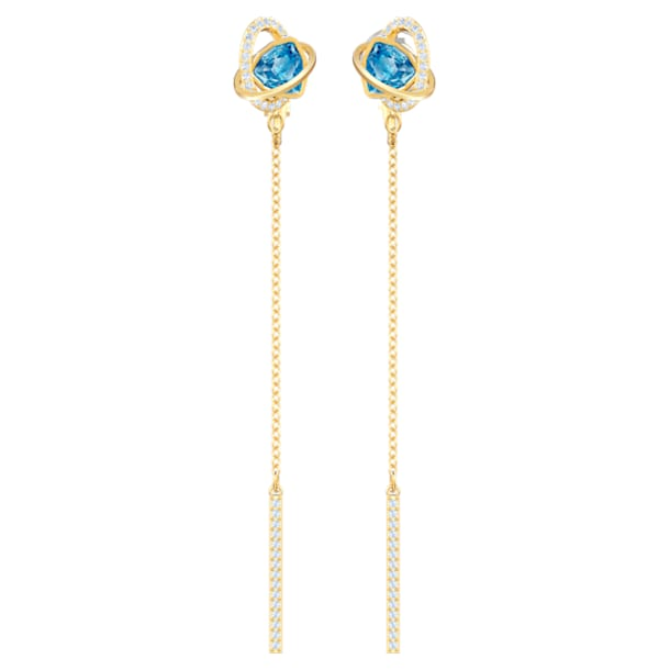 Outstanding earrings, Blue, Gold-tone plated - Swarovski, 5580273
