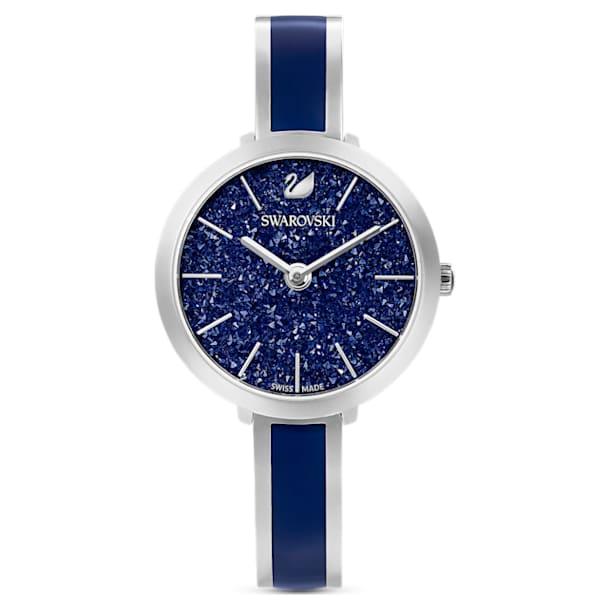 Crystalline Delight Watch, Metal Bracelet, Blue, Stainless Steel - Swarovski, 5580533