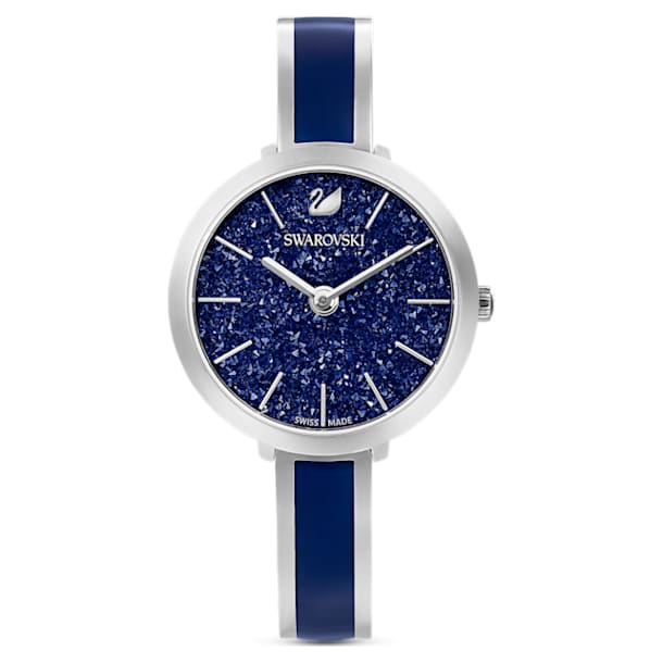 Crystalline Delight Watch , Metal bracelet, Blue, Stainless steel - Swarovski, 5580533