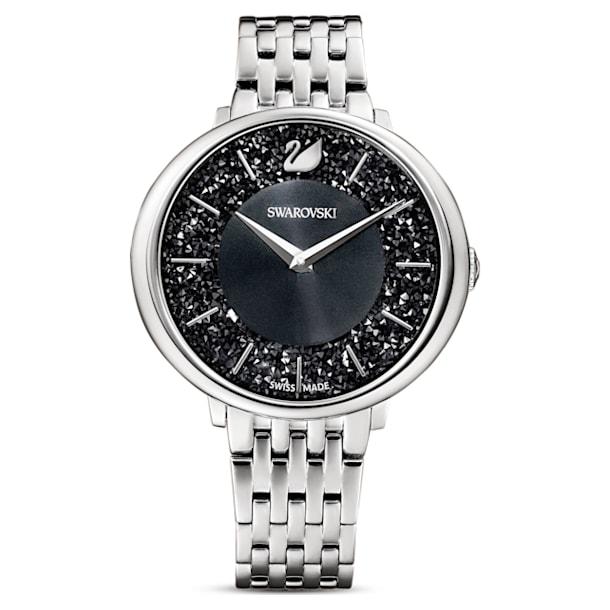 Crystalline Chic Watch, Metal Bracelet, Black, Stainless steel - Swarovski, 5587527