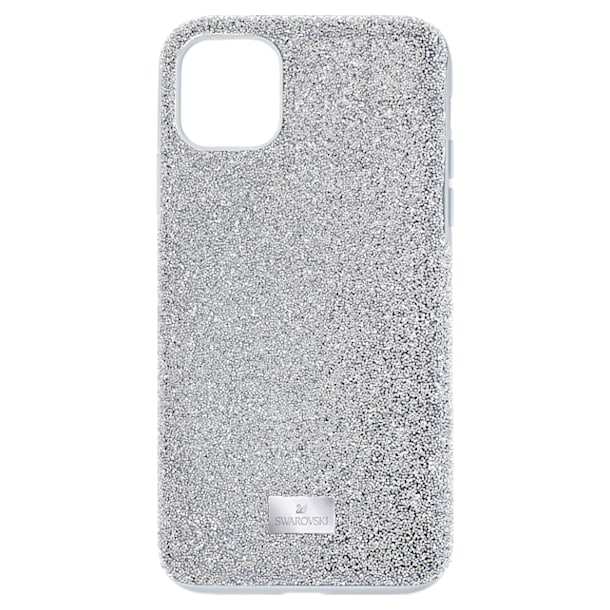 Custodia per smartphone High, iPhone® 11, tono argentato - Swarovski, 5592030