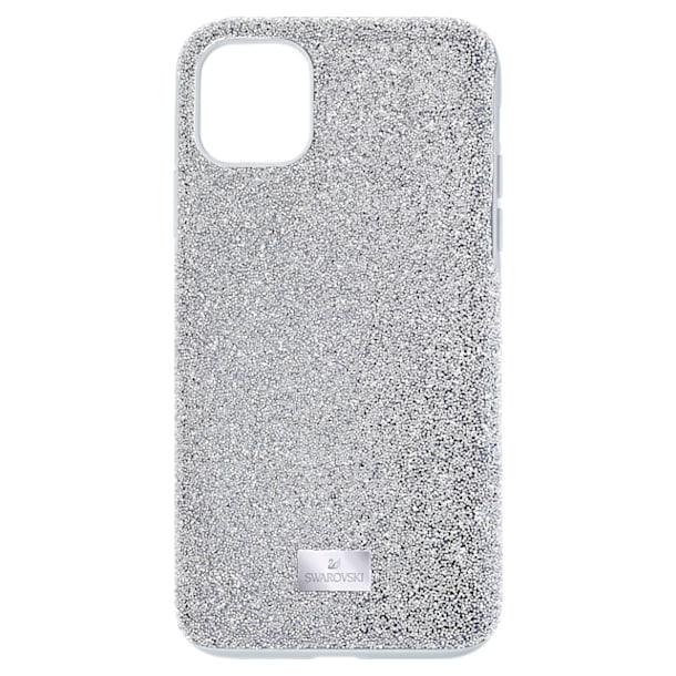 High Smartphone case, iPhone® 11, Silver tone - Swarovski, 5592030