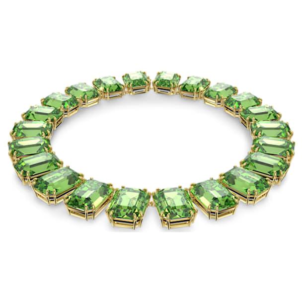 Κολιέ Millenia, Κρύσταλλα κοπής οκταγώνου, Πράσινο, Επιμετάλλωση σε χρυσαφί τόνο - Swarovski, 5598261
