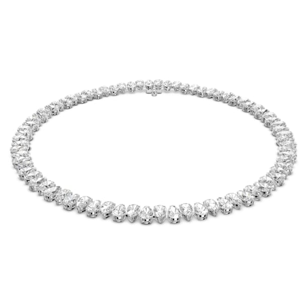 Collier Millenia, Swarovski Zirconia taille poire, Blanc, Métal rhodié - Swarovski, 5598362