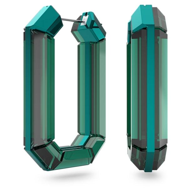 Lucent hoop earrings, Green - Swarovski, 5598374