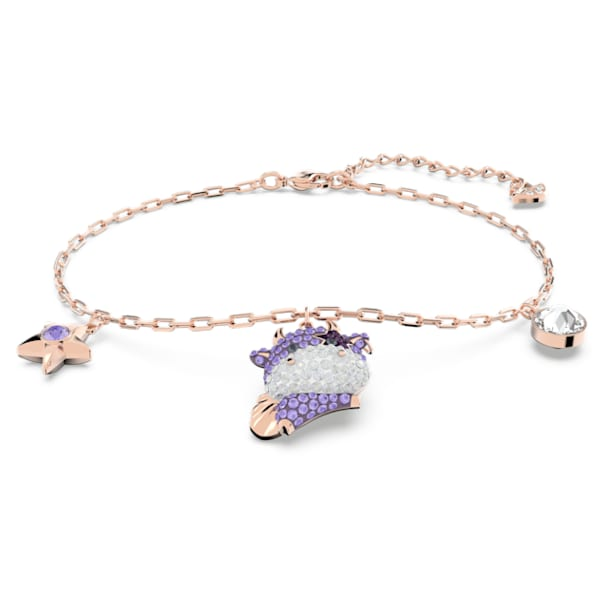 Little Bracelet, Violet, Rose-gold tone plated - Swarovski, 5599156