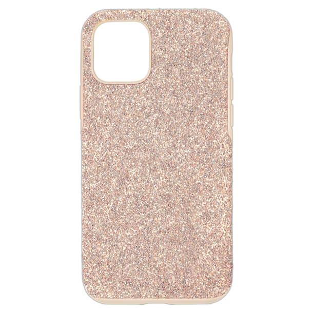 High smartphone case, iPhone® 12/12 Pro, Rose gold tone - Swarovski, 5599157