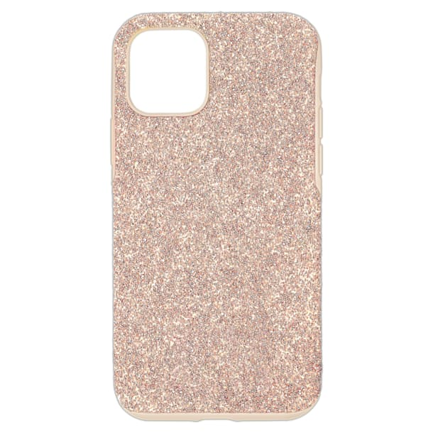 High Smartphone Case with Bumper, iPhone® 12 mini, Pink - Swarovski, 5599163