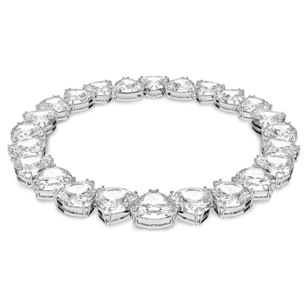 Millenia necklace, Trilliant cut crystal, White, Rhodium plated - Swarovski, 5599167