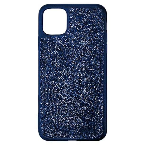 Glam Rock Smartphone Case with Bumper, iPhone® 12 Pro Max, Blue - Swarovski, 5599176