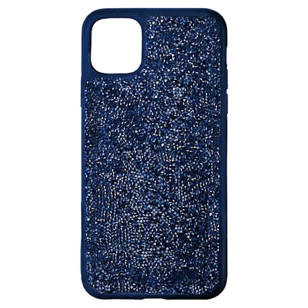 Glam Rock smartphone case , iPhone® 12 Pro Max, Blue - Swarovski, 5599176