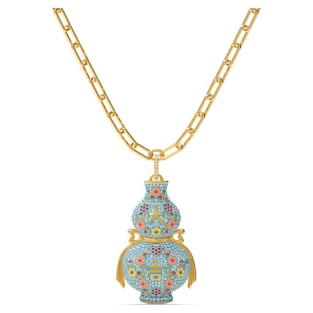 Flower of Fortune Necklace, Multicolor, Gold-tone plated - Swarovski, 5599184