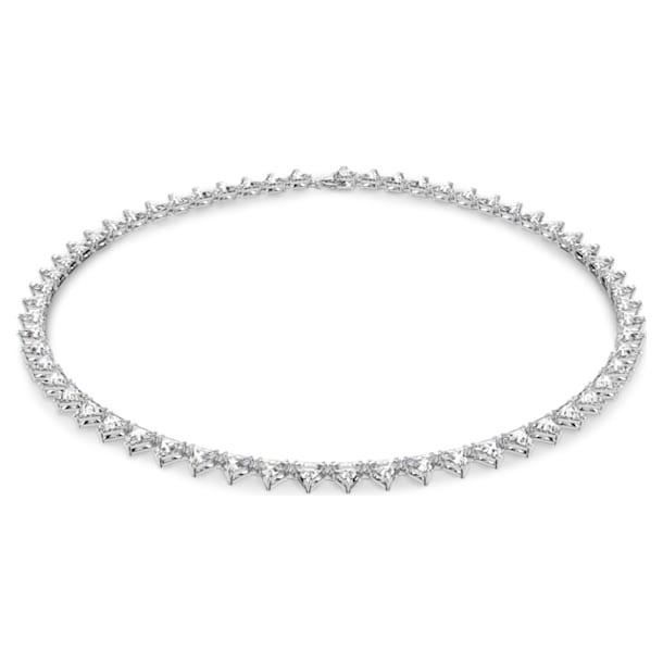 Millenia necklace, Triangle, White, Rhodium plated - Swarovski, 5599191