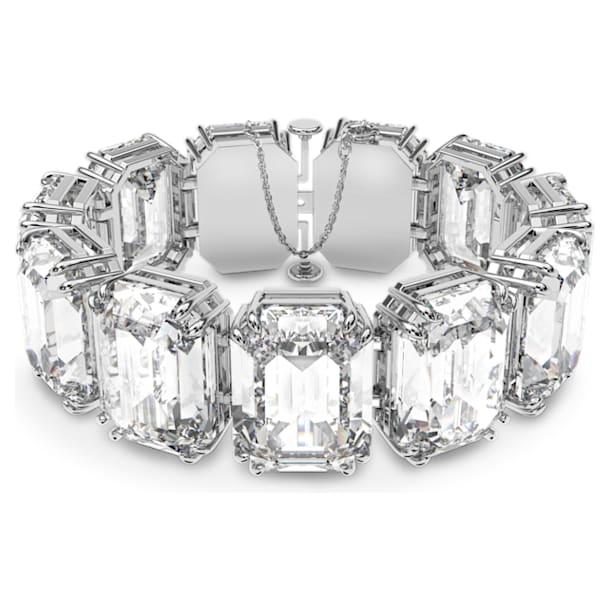 Braccialetto Millenia, Cristalli taglio octagon, Bianco, Placcato rodio - Swarovski, 5599192